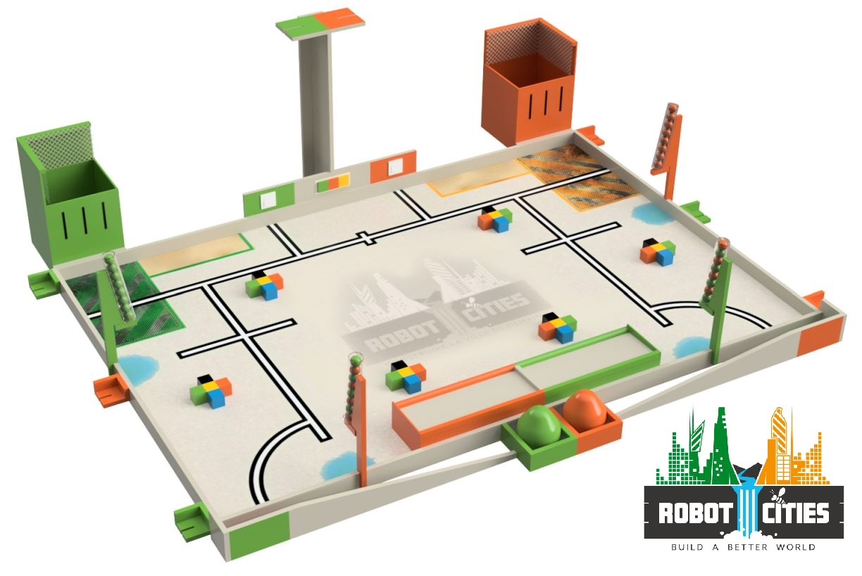 Eurobot 2018: Robot cities game table